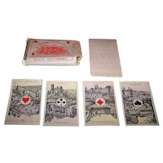 "Ets. Brepols S.A. fka Brepols & Dierckx Zoon ""Cartes Royales"" Playing Cards w/ Original Wrapper, 40-Card Deck, c.1870-1890"