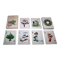 """Christmas Cards, Inc. """"Christmas Cards"""" Playing Cards, New Suits Deck, c.1986"""