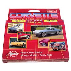 "Double Deck Hoyle ""Corvette: 40 Years of the American Dream"" Playing Cards, c.1993"