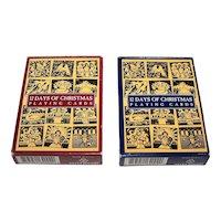 "Twin Decks Carta Mundi ""12 Days of Christmas"" Playing Cards"