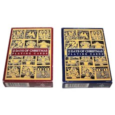 "Twin Decks Carta Mundi ""12 Days of Christmas"" Playing Cards"