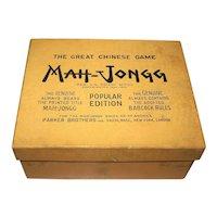 "Parker Bros. ""Mah-Jongg"" Game, Popular Edition, c.1923"