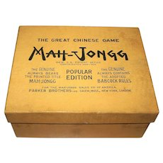 "Parker Bros. ""Mah-Jongg"" Game, Popular Edition, c.1923"