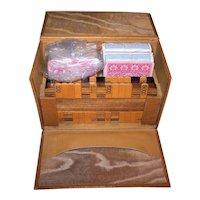"""Antique Bezique Set, 4 Decks De la Rue Cards (2 Sealed), """"Dexter"""" Harry's, c.1880-1900 (Fortnum & Mason Case)"""