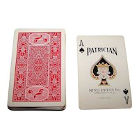 "King Press ""Patrician"" Playing Cards (52/52, NJ), c.1930s"