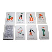 "Western Playing Card Company ""Peter Pan Charades"" Card Game, Patience Size Cards, c.1920s"
