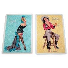 """Double Deck Arrco """"Esquire"""" 100% Plastic Pin-Up Playing Cards, Ben-Hur Baz Designs, c.1948"""