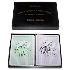 "Double Deck USPC/Liberty ""Great American Golf Holes"" Playing Cards, c. 1987"
