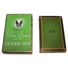 "USPC ""Peau Doux Gin Rummy Cards,"" c.1940s"