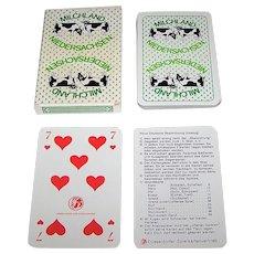 """Dusseldorfer Spielkartenvertrieb """"Milchland Niedersachsen"""" Skat Playing Cards, Carta Mundi Maker, c.1980s"""