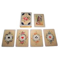 """Grimaud """"Jeu Louis XV"""" Playing Cards, No. 1502, w/ Falconer Joker (No Box), c.1920"""
