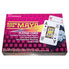 "Single Deck Pronaco S.A. de C.V. ""Naipe Tipo Maya"" Playing Cards, c.1991"