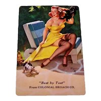 "Brown & Bigelow ""Colonial Broach Co."" Advertising Pin-Up Playing Cards, Gil Elvgren Designs, c.1950s"