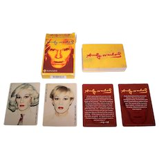 """Warhol Foundation """"Andy Warhol"""" Playing Cards, Maker Unknown"""