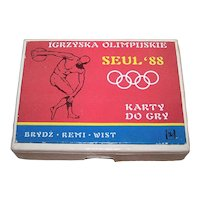 """Double Deck KZWP """"Seoul Olympics '88"""" Playing Cards, c.1988"""