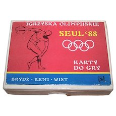 "Double Deck KZWP ""Seoul Olympics '88"" Playing Cards, c.1988"