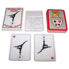 """Sutherland Brown"" Transformation Playing Cards, Laura Sutherland Designs, Ltd. Ed. (___/3000) c.1977"
