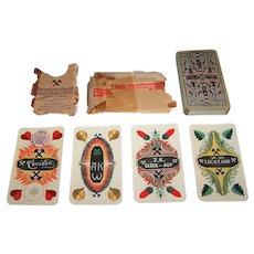 "VSSF Altenburg ""Bergbaukarte"" (""Mining Cards"") Skat Playing Cards, w/ Original Wrapper, Otto Pech Designs, c.1925"