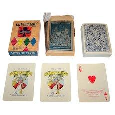 """Cia General Fabril Financiera, S.A. """"El Heraldo"""" Playing Cards, w/ Original Wrapper, c.1975"""