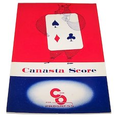 "7 Hertz System, Inc. ""Canasta Score Pads,"" Chesapeake & Ohio Railroad, c.1955"