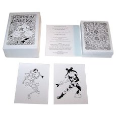 """Peter Wood """"Hidden Mickeys"""" Playing Cards, Signed and Numbered Ltd. Ed. (73/80), Peter Woods Designs, c.1999"""