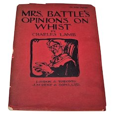 "Charles Lamb ""Mrs. Battle's Opinions on Whist,"" J.M. Dent & Sons, Ltd., Roberta F.C. Waudby Illustrations, c.1930"