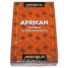 "Carta Mundi ""Artdeck African"" Playing Cards, Aristoplay, Ltd. Publisher, Meadows & Wiser Designs, c.1995"