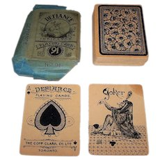 "Copp Clark Co., Ltd. ""Defiance No. 91"" Playing Card w/ Original Wrapper, c.1885"