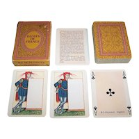 "Grimaud ""Dames de France"" Playing Cards, [Based Upon Houbigant Original, 1816], c.1969"