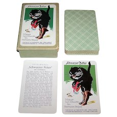 """VSSF Altenburg """"Schwarzer Peter"""" (""""Black Peter"""") Card Game, Otto Pech (""""Pix"""") Designs, c.1926"""