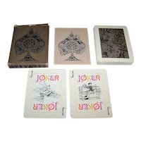 "INA ""Early Aviation"" Playing Cards, Maker Unknown, Artist Unknown, c.1972"