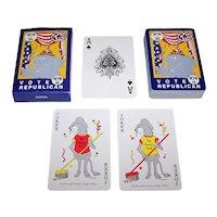 "Artists & More Design Studios ""Vote Republican – Win 96"" Playing Cards, Nestor Joker Design, c.1995"