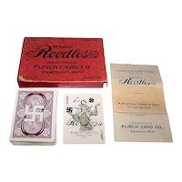 "Flinch Card Co. ""Roodles"" Card Game, Arthur J. Patterson Creator, c.1912"