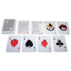 "Masenghini ""Credito Lombardo"" Playing Cards, Bergamo Masks, Enea Riboldi Designs, c.1980"