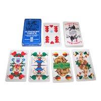 """F.X. Schmid """"Bayerisches Doppelbild"""" Playing Cards, """"Schafkopf Tarock,"""" 36-Card Deck, """"Cramer-Klett"""" Brand -- """"Schlossbrauerei Hohenaschau"""" Brewery c.1980s"""