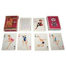 """Brown & Bigelow (Redi-Slip) """"53 Vargas Girls"""" (aka """"Vargas Vanities"""") Pin-Up Playing Cards, Alberto Vargas Designs, c.1953"""