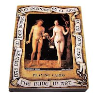 """Fournier """"The Nude in Art"""" Playing Cards, c.1977"""