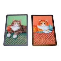 "Double Deck Fournier (USPC/Congress) ""Cats"" Playing Cards, c.1990s"