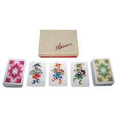 """Double Deck Coeur """"Gracia"""" Patience Playing Cards, Hannelore Heise Designs, c.1972"""