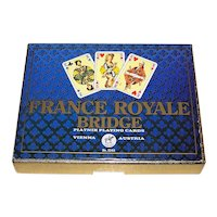 "Double Deck Piatnik ""France Royale Bridge"" Playing Cards, Willie Mayr Designs, c.1975"