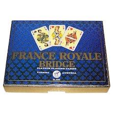 "Double Deck Piatnik ""France Royale Bridge"" Playing Cards, Willie Mayr Designs, c.1975"