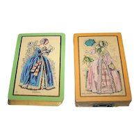 "2-Pack USPC Congress 606 Playing Cards, ""Abigail"" and ""Melissa"", c.1929"