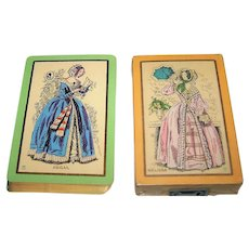 """2-Pack USPC Congress 606 Playing Cards, """"Abigail"""" and """"Melissa"""", c.1929"""