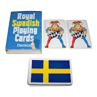 "Esselte Obergs ""Royal Swedish Playing Cards,"" Standard Swedish Pattern, Swedish Flag Backs, c.1980s"