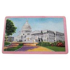 """Arrco """"U.S. Capitol"""" Souvenir Playing Cards, c.1940s"""
