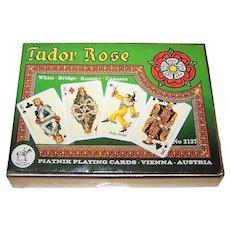 "Double Deck Piatnik ""Tudor Rose"" Playing Cards, Prof. Kuno Hock Designs, c.2004"