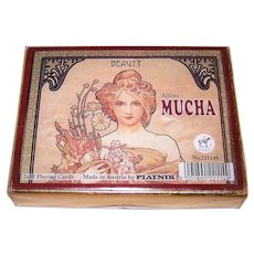 "Double Deck Piatnik ""Alphonse Mucha"" Playing Cards, c.2004"
