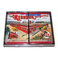 """Double Deck Gemaco """"Redhook Ale Brewery"""" Playing Cards, """"Put Together"""" Decks, c.1990"""