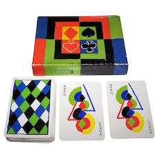 "Bielefelder ""Simultané"" Playing Cards, [Single Deck, Double Box] Sonia Delaunay Designs, 1st Edition, c.1964"