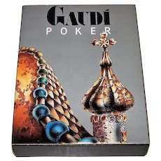 "Naipes Comas ""Gaudi"" Playing Cards, Antoni Gaudi Buildings, Josep Opisso Designs, c.1990"